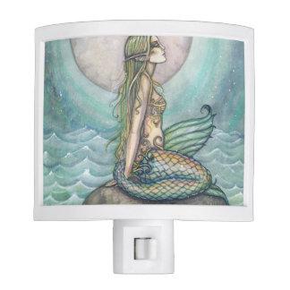 The Pastel Sea Mermaid Fantasy Art Night Light