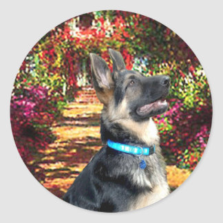 The Path - German Shepherd 15 Classic Round Sticker
