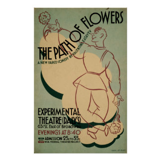The path Of Flowers WPA Vintage Theatre Poster