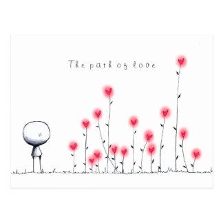 The path of love postcard