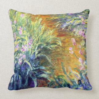 The Path Through the Iris Claude Monet Fine Art Throw Pillow