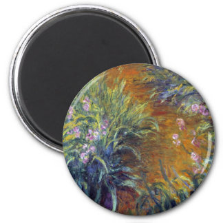 The Path Through the Irises by Claude Monet 2 Inch Round Magnet