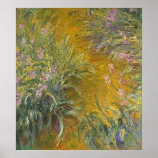 The Path through the Irises Poster