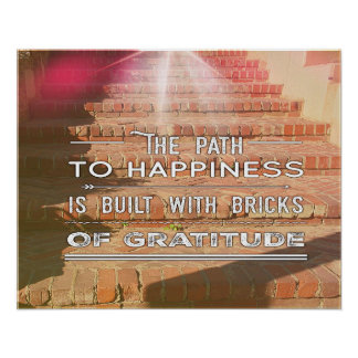 The Path To Happiness Inspirational Poster