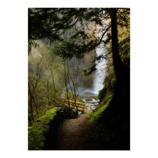 The Path to Latourell Falls Poster