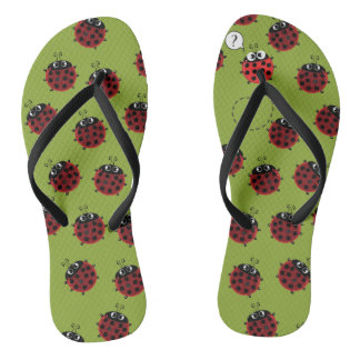The Path to Spring - all green Flip Flops