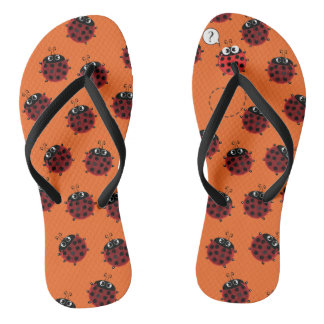 The Path to Spring - Orange fever Flip Flops