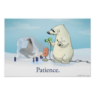 The Patient Polar Bear Poster