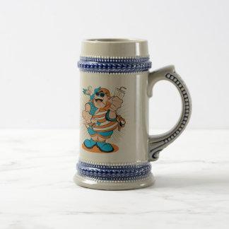 The Patriot Blue / Grey 18oz Stein 18 Oz Beer Stein