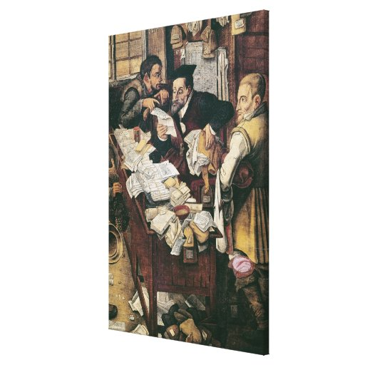 The Payment of the Yearly Dues Stretched Canvas Print