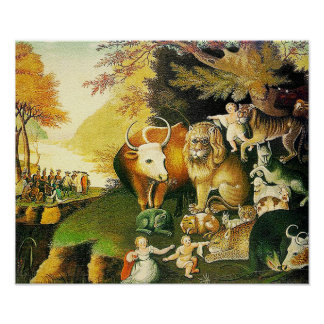 THE PEACEABLE KINGDOM by E. Hicks Poster