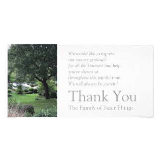 The peaceful Garden 6 Sympathy Thank You 2 Card
