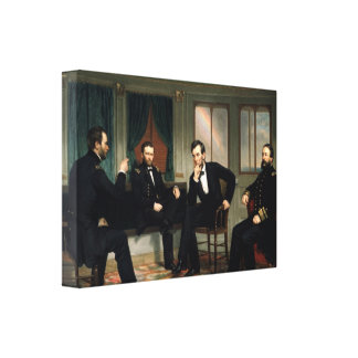 The Peacemakers Abraham Lincoln Wrapped Canvas