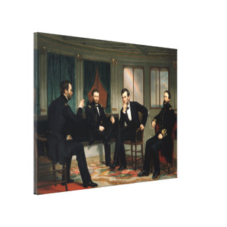 The Peacemakers Painting of 1868 Canvas Print