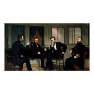 The Peacemakers Painting of 1868 Poster