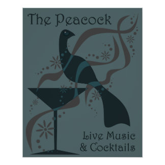 The Peacock Poster