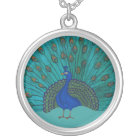 The Peacock Silver Plated Necklace