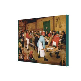 The Peasant Wedding by Pieter Bruegel the Elder Canvas Print