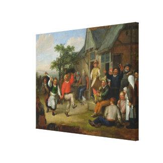 The Peasants' Dance, 1678 Canvas Print