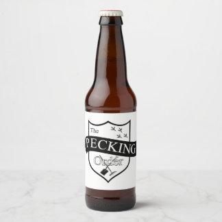 The Pecking Order Beer Bottle Label