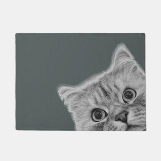 The Peeking Cat Door Mat