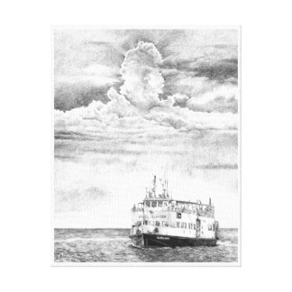 The Pelee Island Ferry - by Bob Manthey Canvas Print