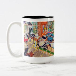 The Pelican Rest Cafe mug. Two-Tone Coffee Mug