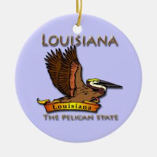 The Pelican State Louisiana Ornament