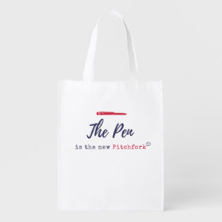 The PEN is the New Pitchfork Reusable Bag Grocery Bag