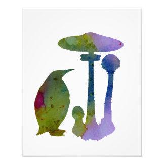 The Penguin And The Mushroom Art Photo