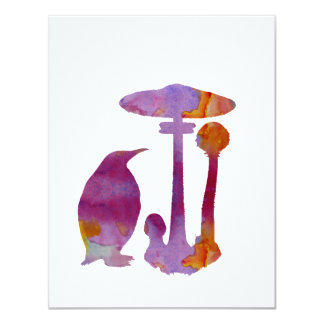 The Penguin And The Mushroom Card
