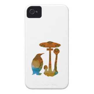 The Penguin And The Mushroom iPhone 4 Cases