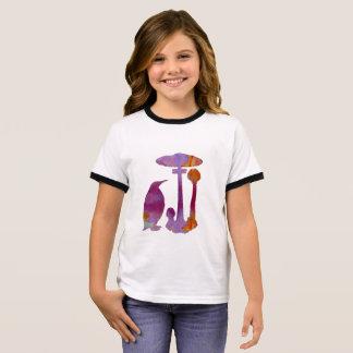 The Penguin And The Mushroom Ringer T-Shirt