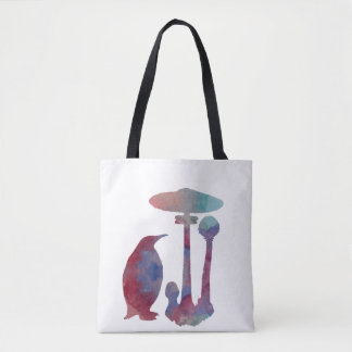 The Penguin And The Mushroom Tote Bag