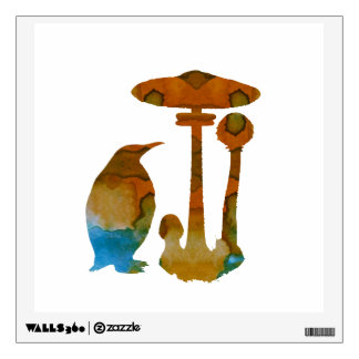 The Penguin And The Mushroom Wall Decal