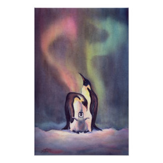 THE PENGUIN FAMILY by SHARON SHARPE Poster