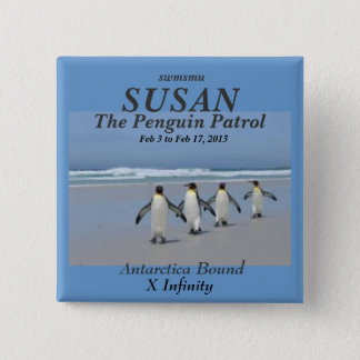 The Penguin Patrol name tag 2 Inch Square Button