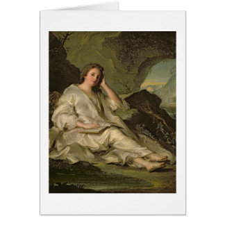 The Penitent Magdalene (oil on canvas) Card