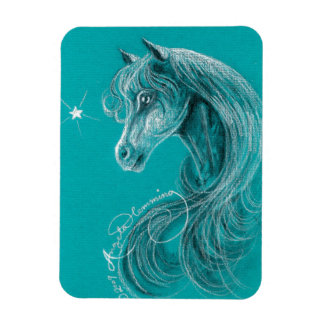 The Pensive Arabian Horse Magnet