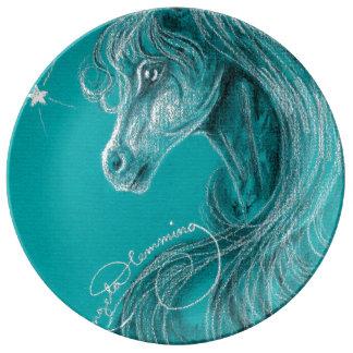 The Pensive Arabian Horse Porcelain Plates