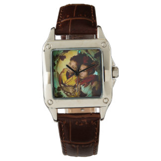 The Pensive Gaze of Two Geisha Vintage Japan Wristwatches