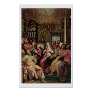 The Pentecost, c.1598 (oil on panel) Poster