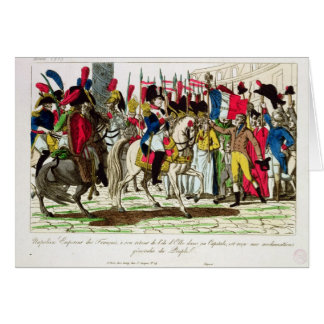 The People of Paris Acclaiming Napoleon Card