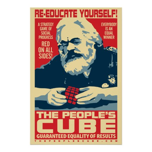 The People's Cube Marx Poster