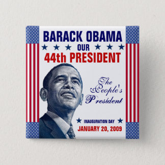 The People's President 2 Inch Square Button