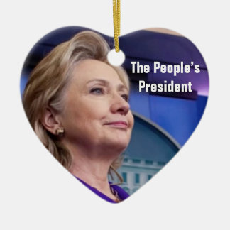 The People's President: Hillary 2016 Ornament