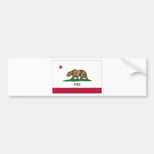 The People's Republic of California Bumper Sticker