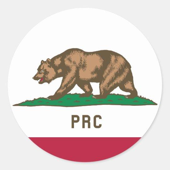 The People's Republic of California Classic Round Sticker