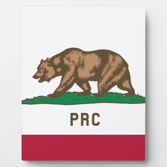 The People's Republic of California Plaque