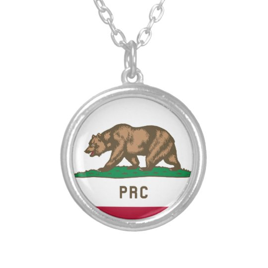 The People's Republic of California Silver Plated Necklace